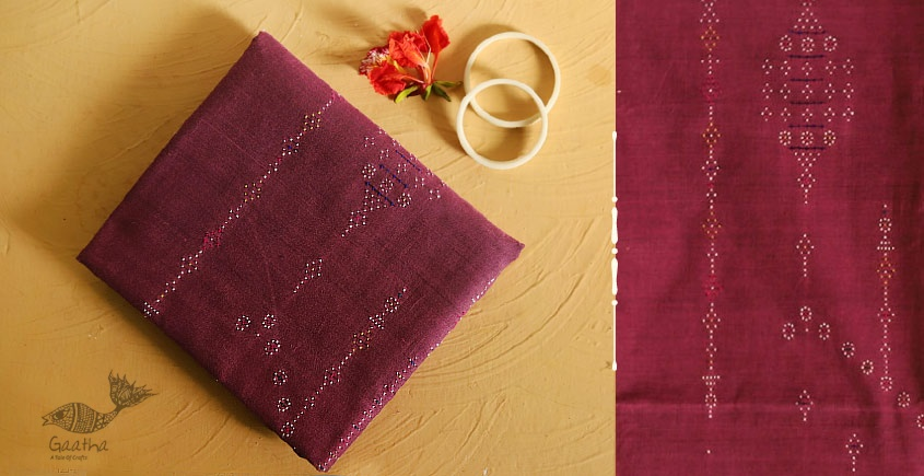 गुलमोहर  ⁂ Tangaliya ⁂ Cotton Dress Material ⁂ Mauve