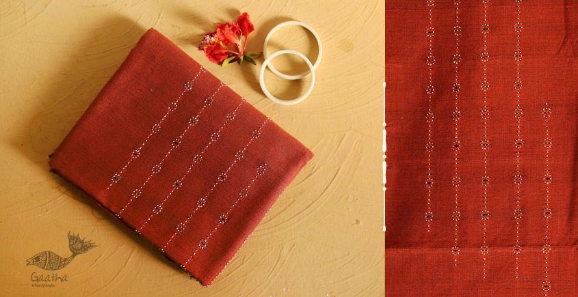 गुलमोहर ⁂ Tangaliya ⁂ Cotton Dress Material ⁂ Rust