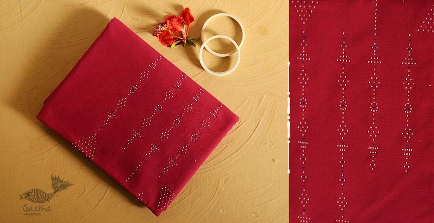 Pink color Cotton Tangaliya kurta Material