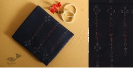 गुलमोहर  ⁂ Tangaliya ⁂ Cotton Dress Material - Navy Blue
