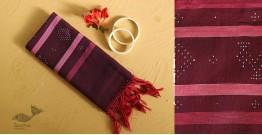 गुलमोहर ⁂ Tangaliya ⁂ Cotton Stole ⁂ Red Violet