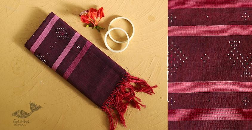 गुलमोहर ⁂ Tangaliya ⁂ Cotton Stole ⁂ Red Violet