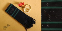 गुलमोहर ⁂ Tangaliya ⁂ Cotton Stole ⁂ Black (M)