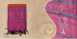 Tangaliya ~ Dupatta ~ Brown and Pink