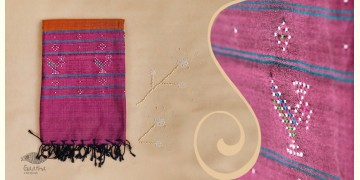 Tangaliya ~ Dupatta ~ Brown and Pink