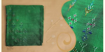 Tangaliya ~ Dress material Green