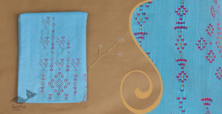 Tangaliya ~ Dress material Blue