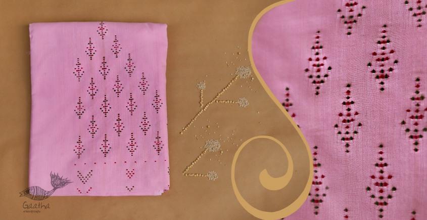 Tangaliya ~ Dress material Pink