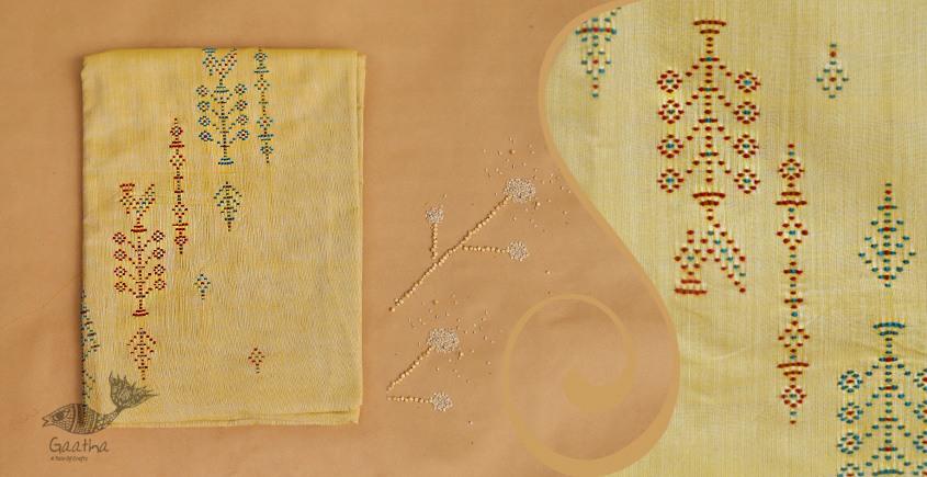 Tangaliya ~ Dress material Mustard