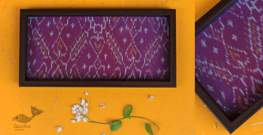 Joyance ⚙ Patola Wooden Purple Tray ~ D { 6 X 12 }
