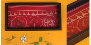 "Joyance ⚙ Patola Wooden Red Tray ~ E { 6"" X 12"" }"