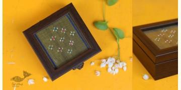 "Joyance ⚙ Tangaliya Wooden Box ~ H { 4"" X 4"" }"