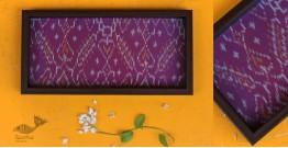 "Joyance ⚙ Patola Purple Tray ~ D { 6"" X 12"" }"