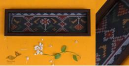 "Joyance ⚙ Patola Wooden Black Tray ~ A { 4"" X 12.5"" }"