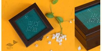 "Joyance ⚙ Tangaliya Wooden Box ~ I { 4"" X 4"" }"