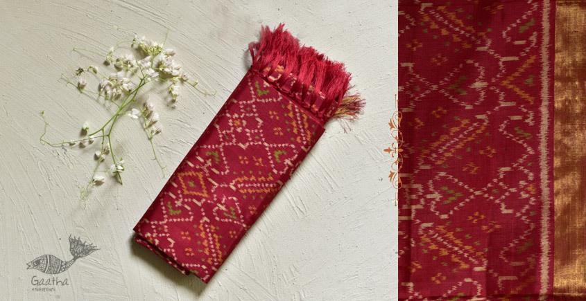 shop pure pure silk patola dupatta - red