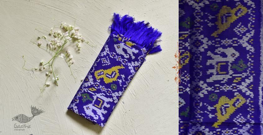shop pure silk patola royal blue dupatta