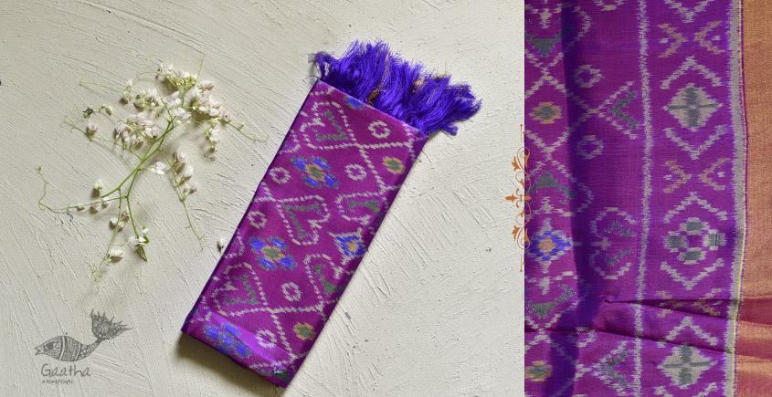 shop pure silk patola dup chaaon purple dupatta