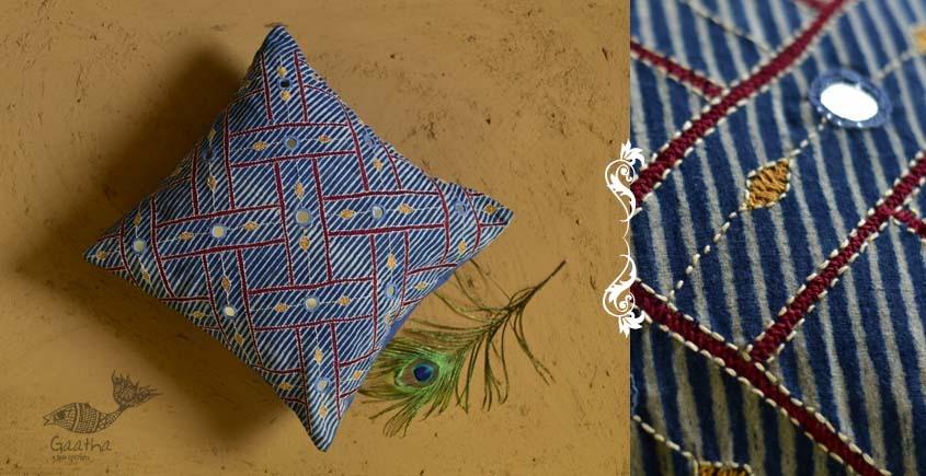 Banjara ❅ Lambani Hand Embroidered Cushion Cover ❅ A