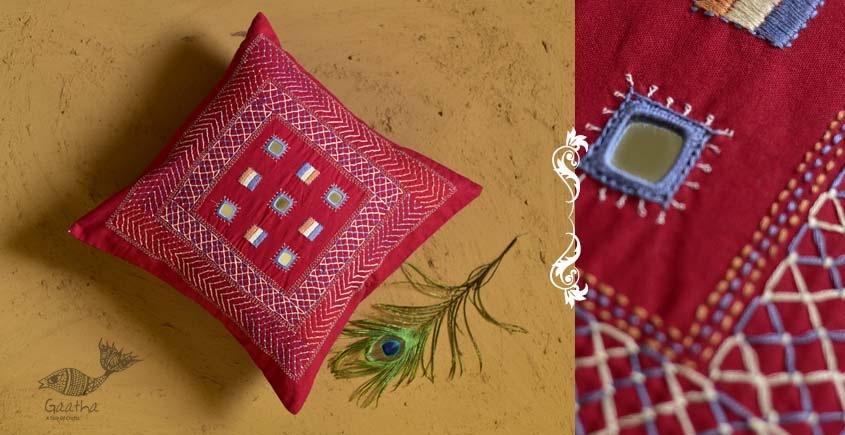 Banjara ❅ Lambani Hand Embroidered Cushion Cover ❅ C