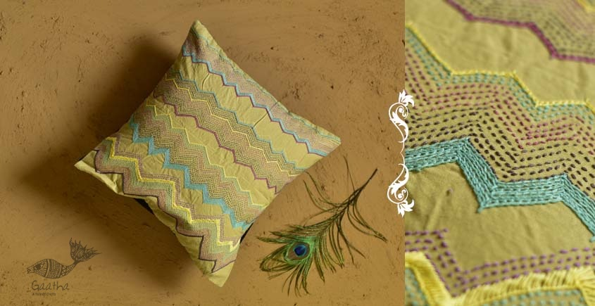 Banjara ❅ Lambani Hand Embroidered Cushion Cover ❅ E