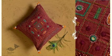 Banjara ❅ Lambani Hand Embroidered Cushion Cover ❅ J