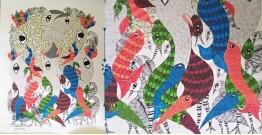 Nandan . नंदन ❁ Canvas Gond Painting (2x3 Feet) ❁ 10