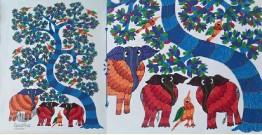 Nandan . नंदन ❁ Canvas Gond Painting (2x3 Feet) ❁ 12