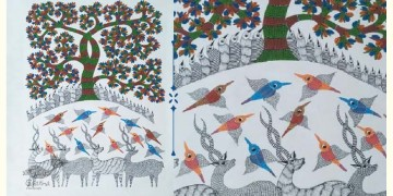 Nandan . नंदन ❁ Canvas Gond Painting (2x3 Feet) ❁ 2