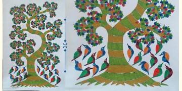 Nandan . नंदन ❁ Canvas Gond Painting (2x3 Feet) ❁ 8
