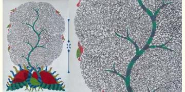 Nandan . नंदन ❁ Canvas Gond Painting (3x4 Feet) ❁ 6
