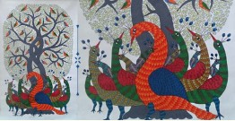 Nandan . नंदन ❁ Canvas Gond Painting (3x5 Feet) ❁ 16