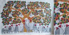 "Nandan . नंदन ❁ Gond Painting (23"" x 15"") ❁ 19"