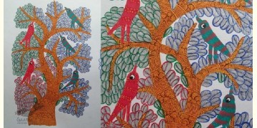 "Nandan . नंदन ❁ Gond Painting (23"" x 15"") ❁ 20"