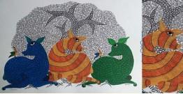 "Nandan . नंदन ❁ Gond Painting (23"" x 15"") ❁ 21"