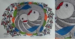 "Nandan . नंदन ❁ Gond Painting (23"" x 15"") ❁ 23"