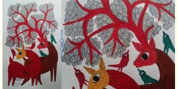 "Nandan . नंदन ❁ Gond Painting (23"" x 15"") ❁ 24"