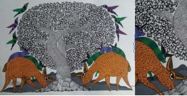 "Nandan . नंदन ❁ Gond Painting (23"" x 15"") ❁ 25"