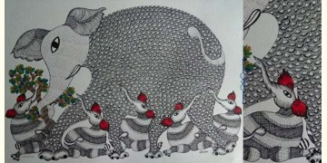 "Nandan . नंदन ❁ Gond Painting (23"" x 15"") ❁ 28"