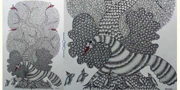 "Nandan . नंदन ❁ Gond Painting (23"" x 15"") ❁ 29"