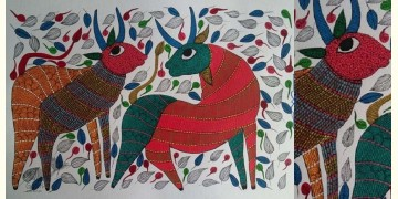 "Nandan . नंदन ❁ Gond Painting (23"" x 15"") ❁ 30"