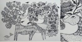 "Nandan . नंदन ❁ Gond Painting (10"" x 14"") ❁ 35"
