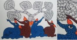"Nandan . नंदन ❁ Gond Painting (10"" x 14"") ❁ 36"