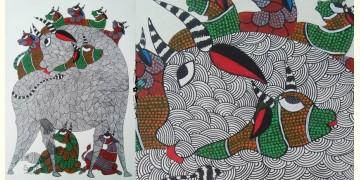 "Nandan . नंदन ❁ Gond Painting (10"" x 14"") ❁ 37"