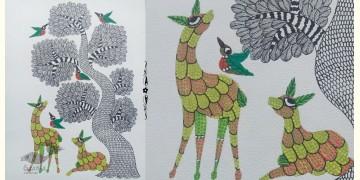 "Nandan . नंदन ❁ Gond Painting (10"" x 14"") ❁ 34"