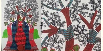 "Nandan . नंदन ❁ Gond Painting (10"" x 14"") ❁ 41"