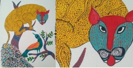 "Nandan . नंदन ❁ Gond Painting (10"" x 14"") ❁ 42"