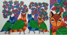 "Nandan . नंदन ❁ Gond Painting (10"" x 14"") ❁ 46"
