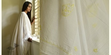 Tahzeeb . तहज़ीब ✽ Hand Embroidered Cotton Dupatta ✽ 10
