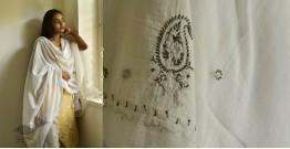 Tahzeeb . तहज़ीब ✽ Hand Embroidered Cotton Dupatta ✽ 12